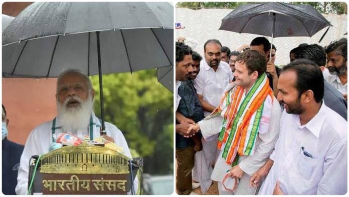 PM Modi holding his own umbrella rekindles the debate on kaamdar vs naamdar