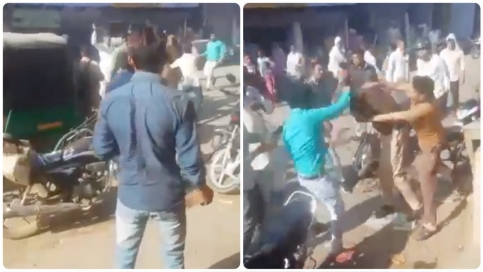 Viral video of Muslim men beating up policemen in Bareilly goes viral, the clip is from Rajasthan March 2021