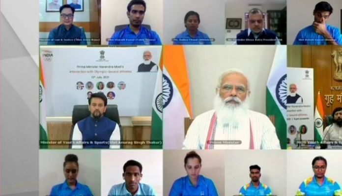 PM Modi speaks to athletes participating in Tokyo Olympics : Details