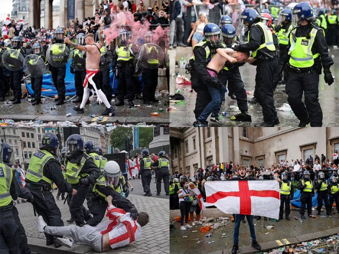 England soccer fans create ruckus in London after Euro 2020 final loss