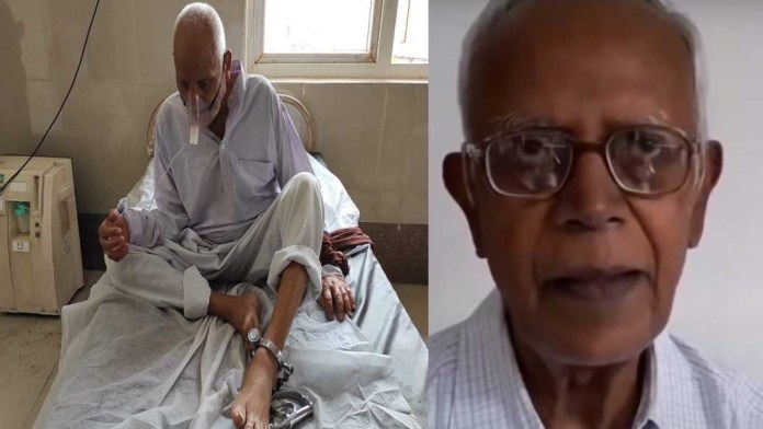 UP convicted murder's photo circulated to claim 'inhuman treatment' to dead 'Urban Naxal' Stan Swamy