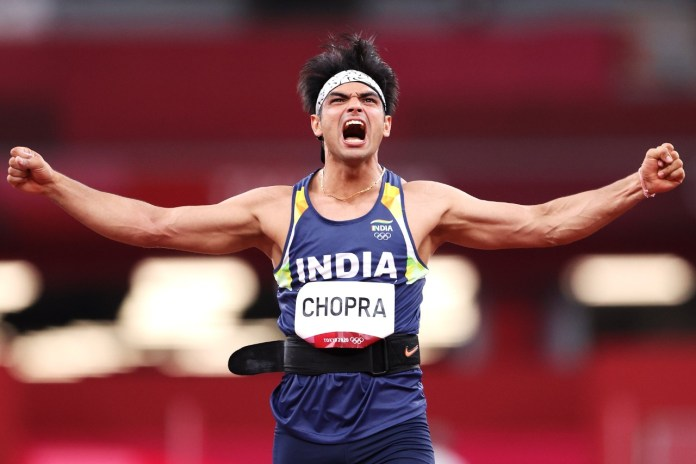 Watch: Indian National Anthem plays at Tokyo Olympics after Neeraj Chopra's historic Gold Medal win