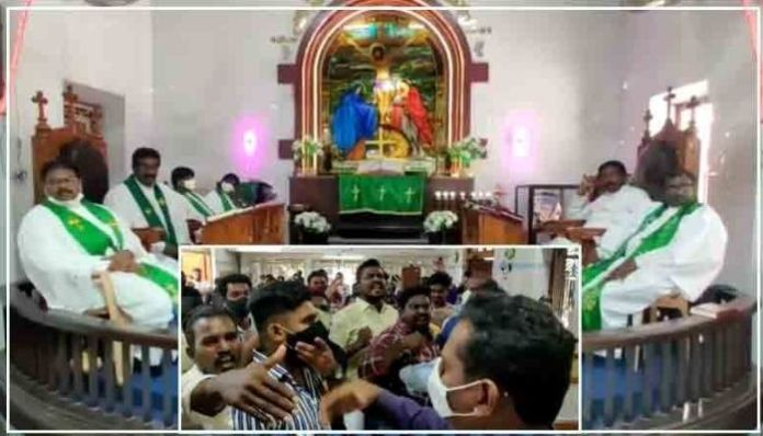 Andhra Pradesh: Supporters of two pastors clash, flung chairs at each other