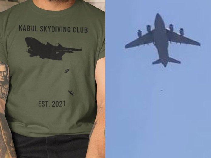 Afghan falling from plane tshirt
