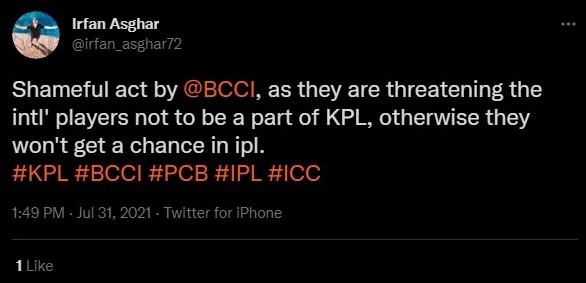 BCCI vs Kashmir Premier League
