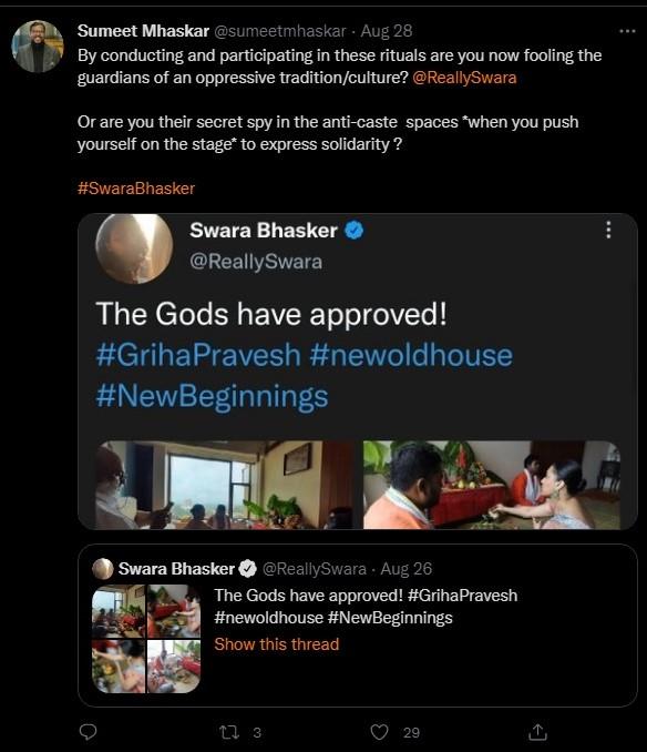 Swara Bhasker cancelled