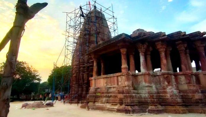 Shikhara of ancient Galteshwar Mahadev temple restored by ASI