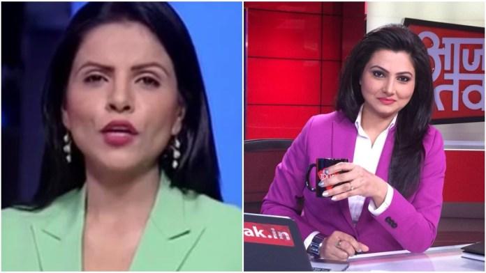 India Today's Preeti Choudhry seen normalising harassment and heckling of Chitra Tripathi at Kisan Mahapanchayat