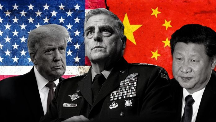 While Trump was in office, USA's Joint Chiefs Chairman Mark Milley was making secret calls to the Chinese, promising them advanced warning in case Trump orders an attack