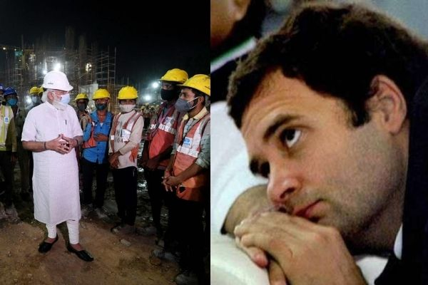PM Modi's central vista site visit hailed on social media, leaves Congress ecosystem fuming