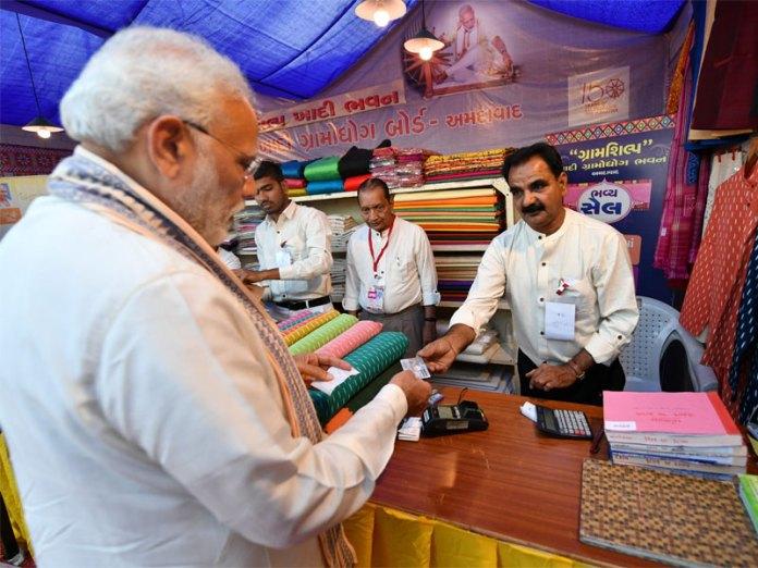 Modi buying Khadi