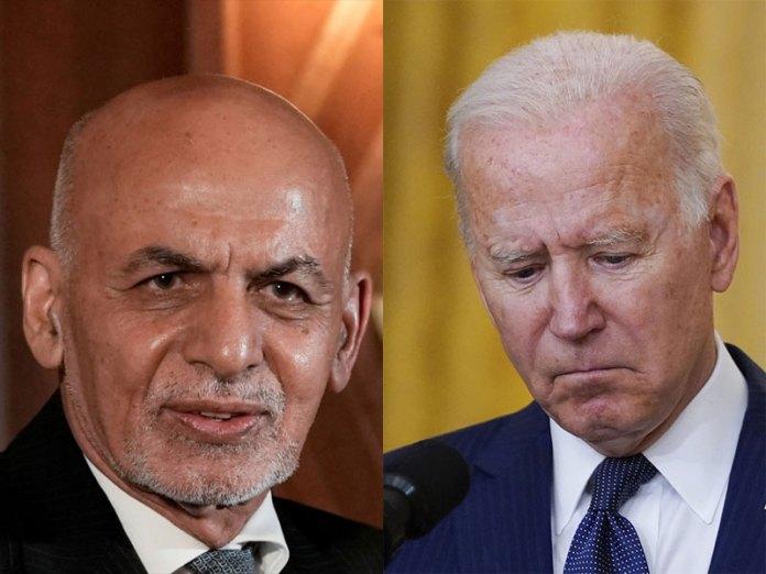 Ashraf Ghani had informed Joe Biden that Taliban is advancing in Afghanistan with full support form Pakistan