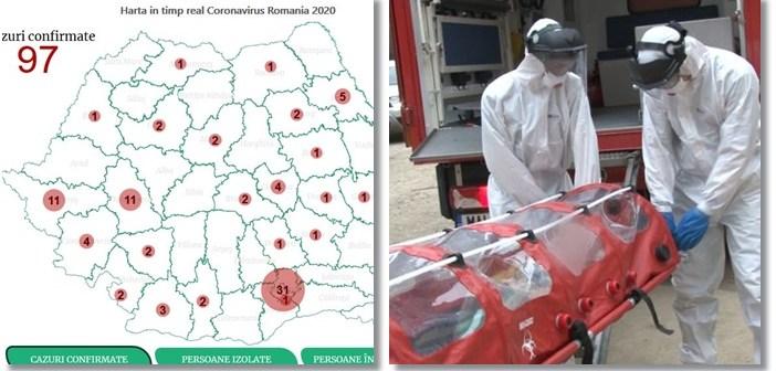 Harta In Timp Real Cu Raspandirea Coronavirusului In Romania Pe