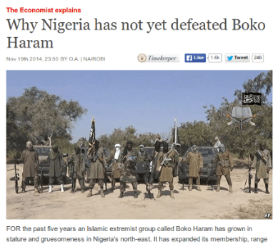 'The Economist' Explanation About Boko Haram Was Wrong