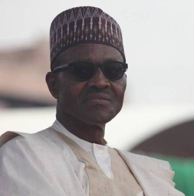 Muhammadu Buhari during the inauguration day.