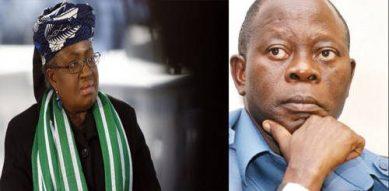 Ngozi Okonjo-Iweala and Gov. Adams Oshiomhole