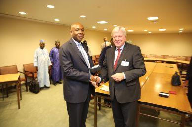 Senate President Abubakar Bukola Saraki with Volker Bouffier, MDL