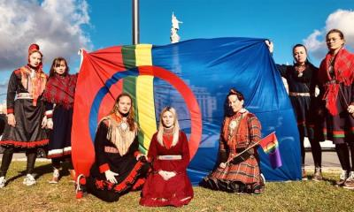A delegation of Saami and Inuit activists at the COP25 in Madrid last year tried to draw attention to the importance of land back movements in the fight against climate change