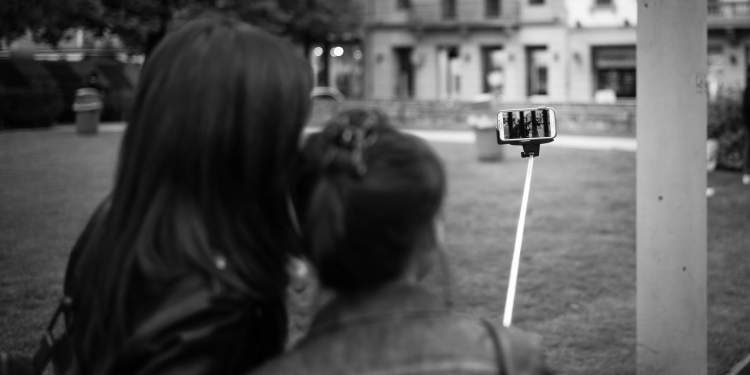 Selfie Stick of Millenials generation. Picture:  Tobi Gaulke