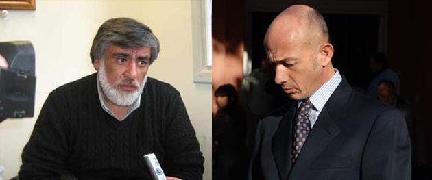 José Córdoba, por entonces Ministro y Fernando Cotillo, hace tiempo Intendente de Caleta Olivia