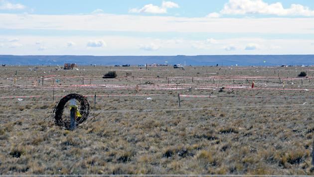 Los terrenos usurpados en Río Gallegos - Foto: OPI Santa Cruz/Francisco Muñoz