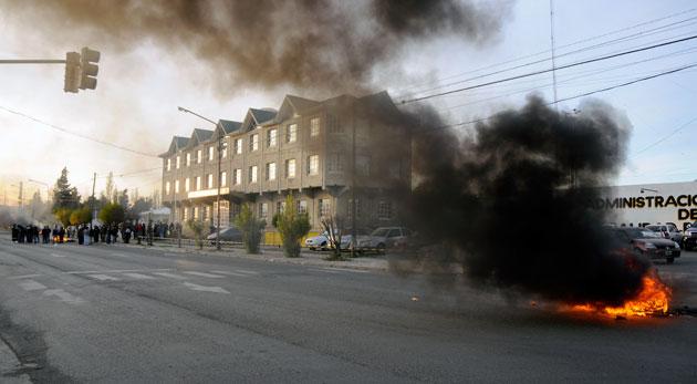 El frente del edificio de vialidad provincial - Foto: OPI Santa Cruz/Francisco Muñoz