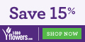 Save 15% on Flowers and Gifts at 1800flowers.com.