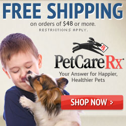 Get FREE SHIPPING on all orders over $48 at PetCareRx.com!