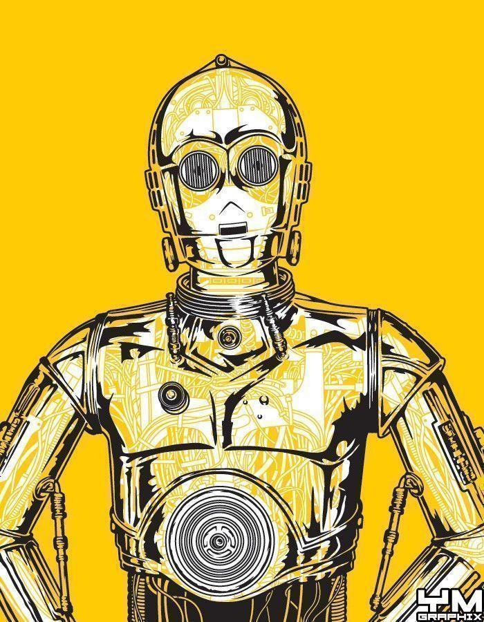 C-3PO Android Robot Anatomy