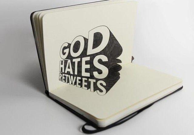 God hates retweets