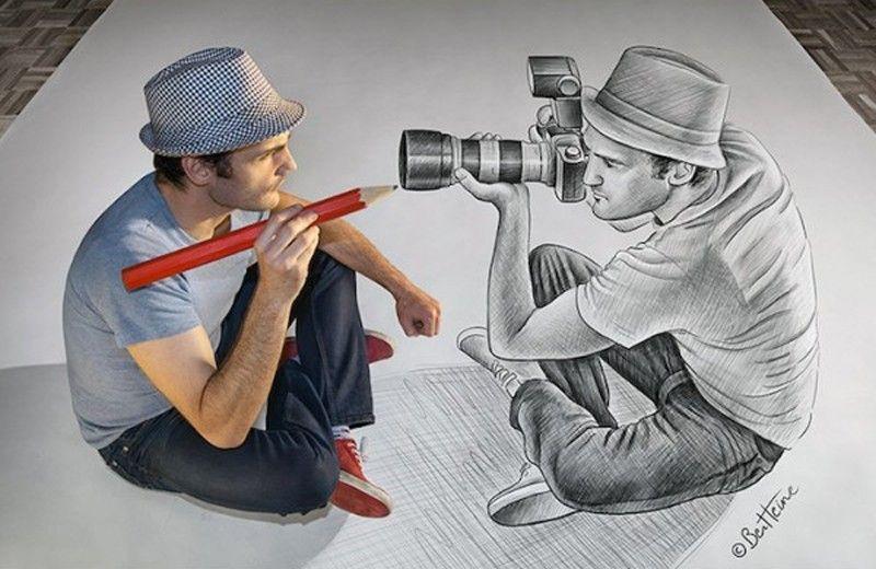 3D Drawings Ben Heine