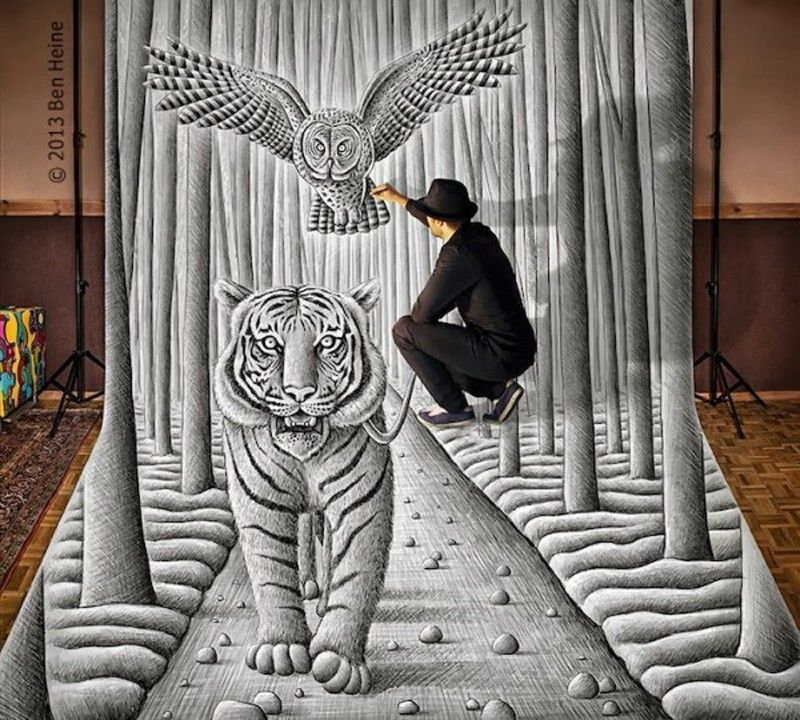 3D Drawings by Ben Heine