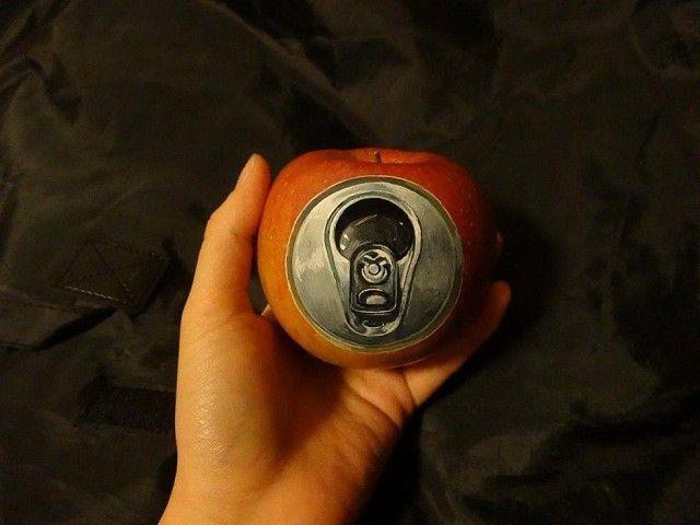 Apple illusions drawing