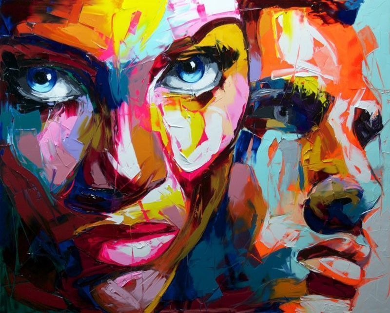 Françoise Nielly double portrait