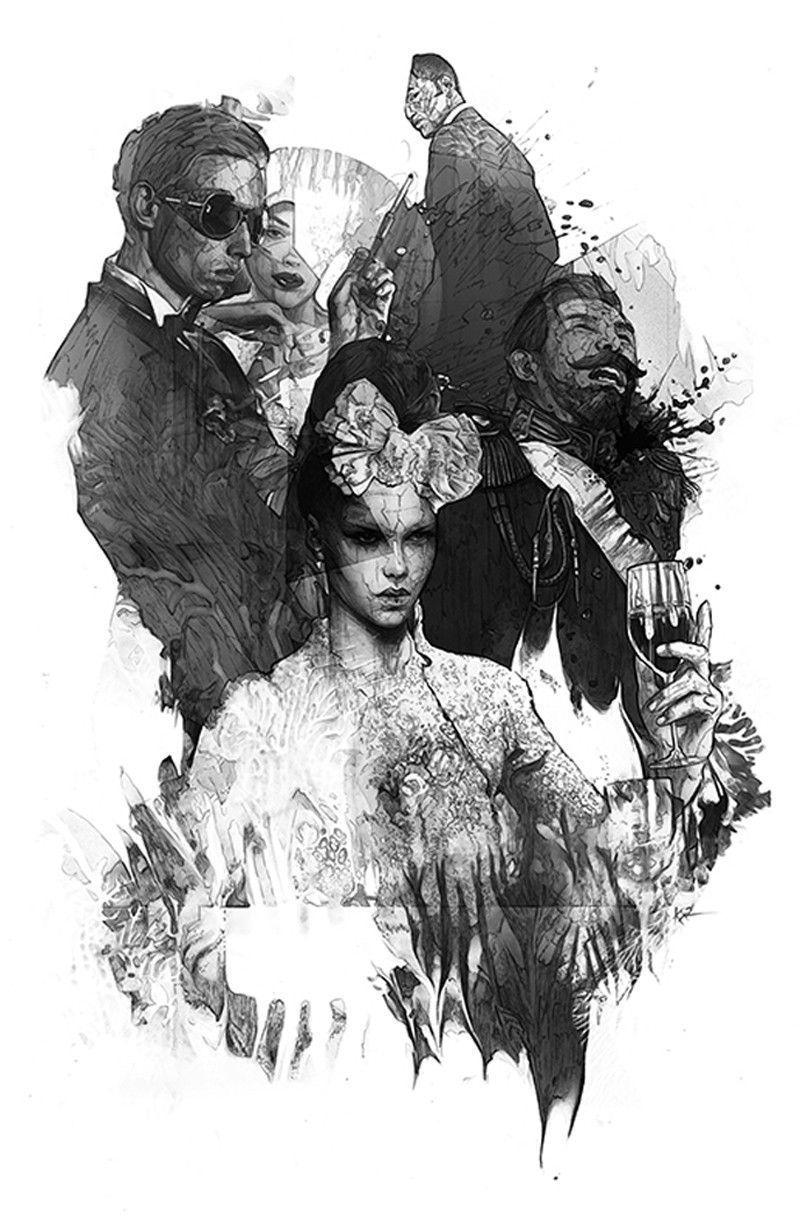 Illustrations noir & blanc