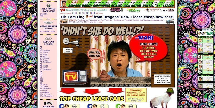 Ling car Internet worst web design