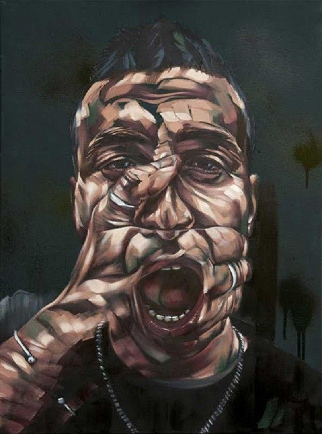 Rems-182 visage main peinture
