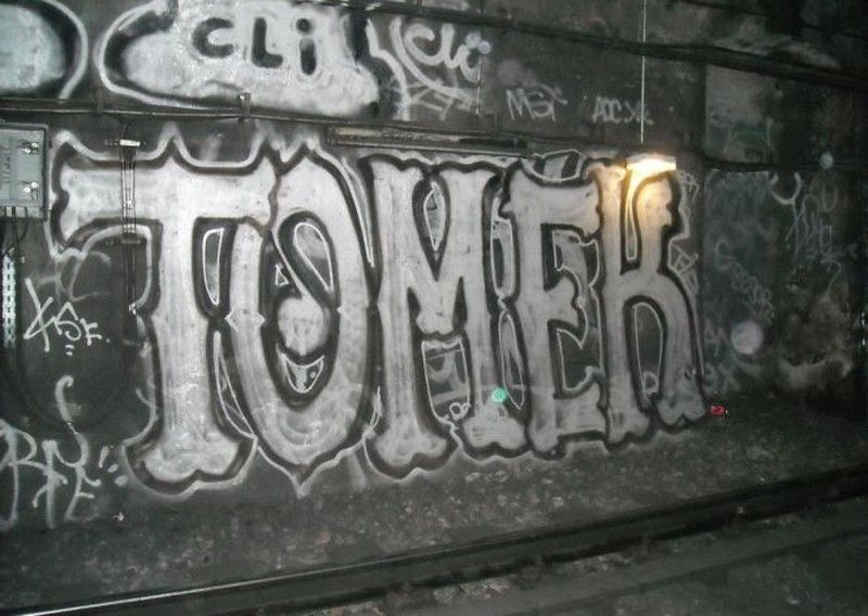 graffiti tomek 2008 Tunnel metro Paris