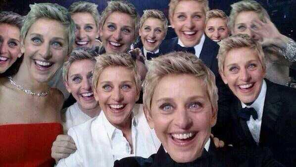selfie Ellen de generes 2