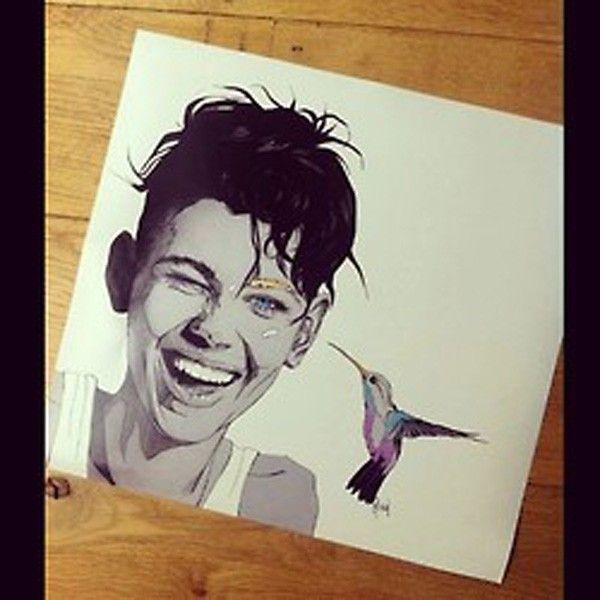 dessin miley-cyrus-colibri