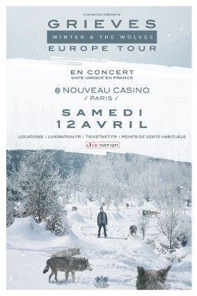 Grieves en concert au Nouveau Casino Paris Samedi 12 avril