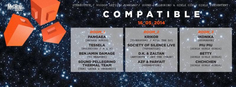 Compatible Pangea Tessela Krikor Society of Silence DK Zaltan Piu Piu