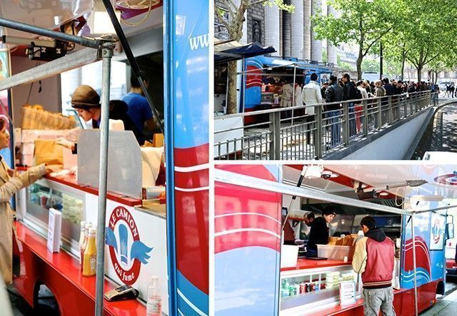 Food Trucks camion qui fume