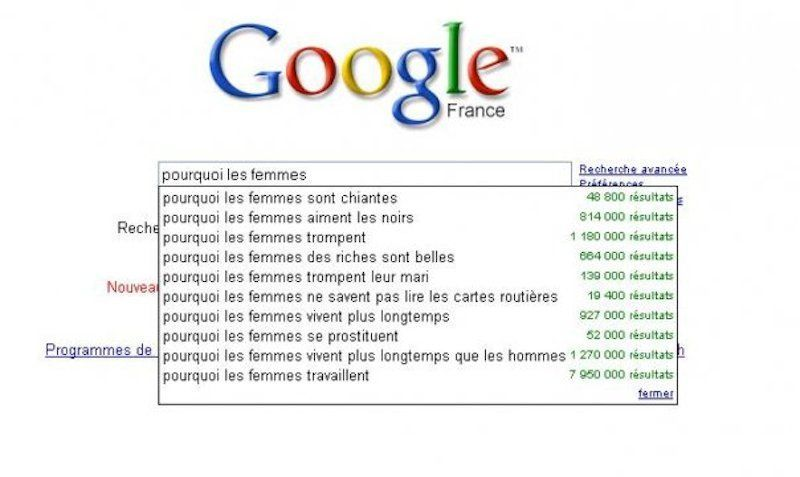 Google pourquoi les femmes