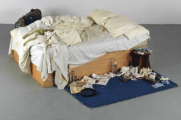 my bed lit tracey emin
