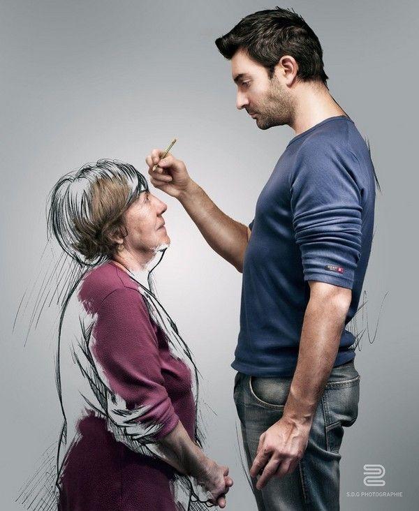 photo-dessin-grand-mère