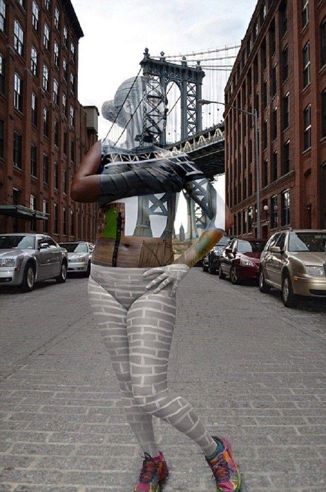 Trina-Merry-camouflage-Manhattan-bridge