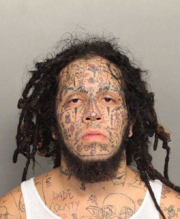 tatouage face