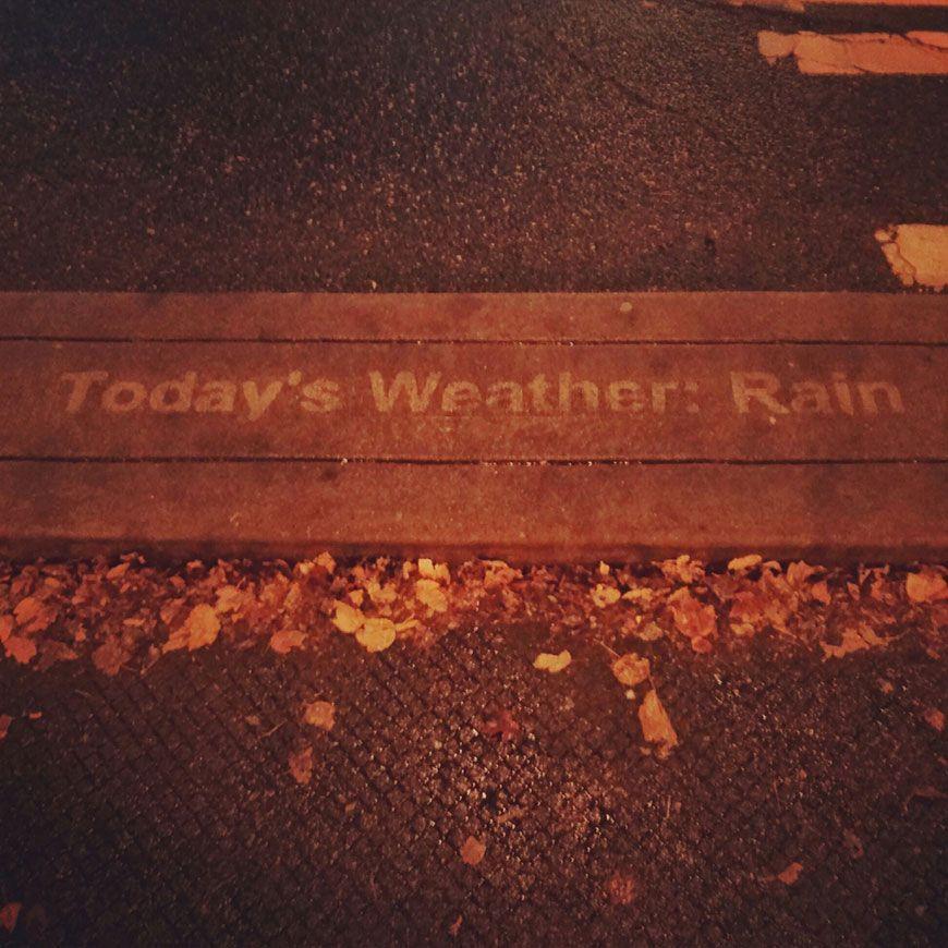 pluie street art