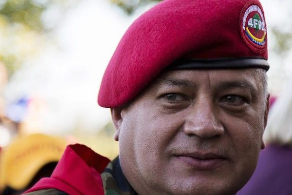 File picture of Diosdado Cabello, head of Venezuela's National Assembly at a rally in Caracas